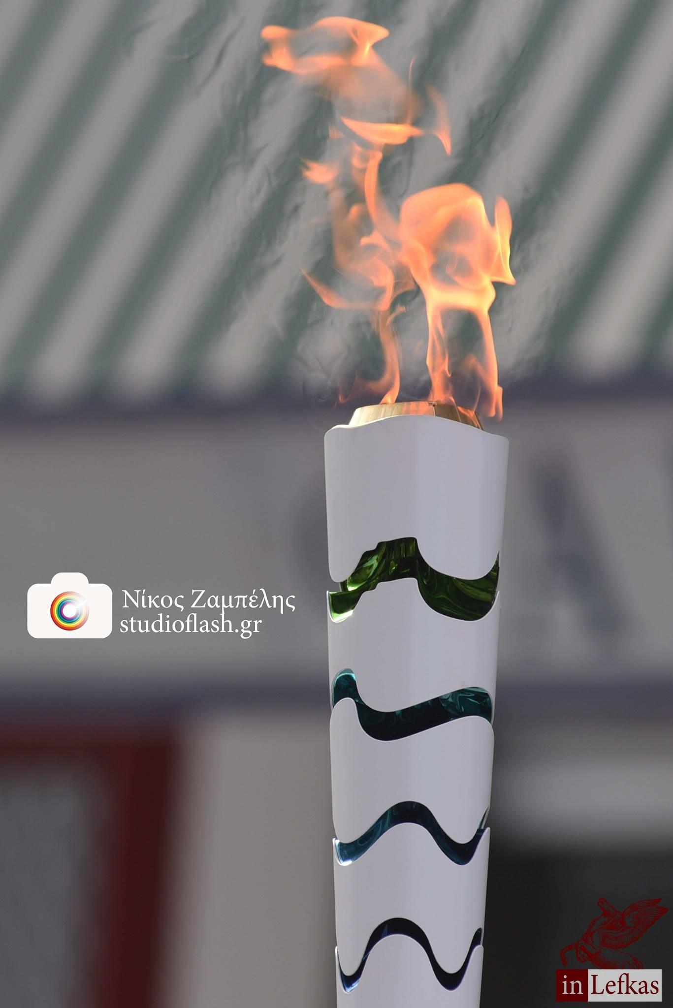Η Ολυμπιακή Φλόγα στη Λευκάδα, φωτογραφίες του Νίκου Ζαμπέλη